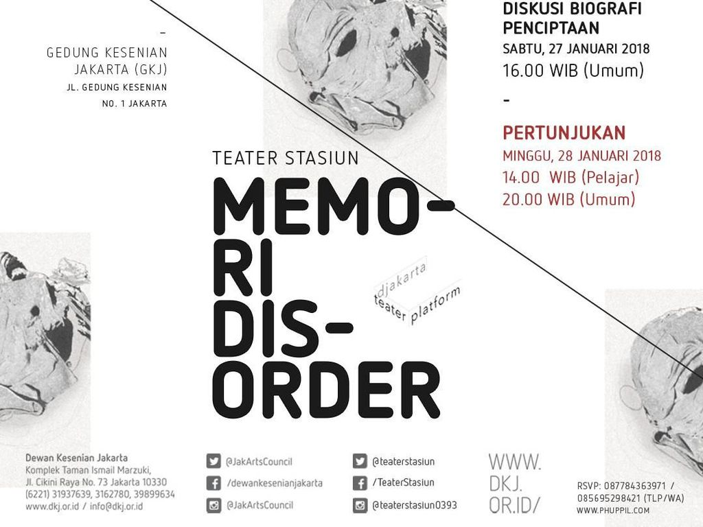 Djakarta Teater Platform Tampilkan Pertunjukan Memori Disorder