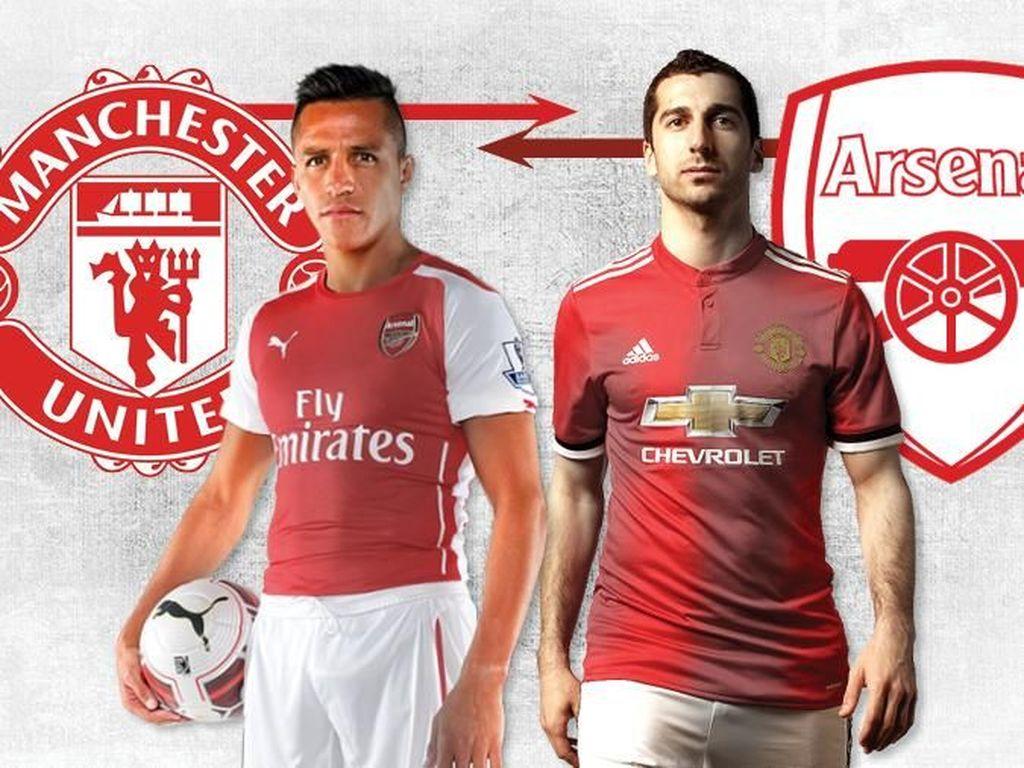 Foto: Sanchez, Mkhitaryan, dan Transfer Langsung Arsenal-MU Lainnya