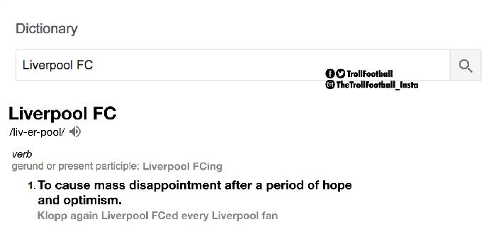 Liverpool, yang sebelumnya bisa mengalahkan Manchester City namun sekarang kalah dari Swansea City yang merupakan tim juru kunci, seolah cuma memberi harapan palsu kepada fansnya terkait penampilan impresifnya. (Foto: Twitter @TrollFootball)