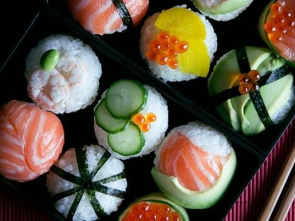 Sushi Kini Tampil Dalam Warna-warni Menarik dan Cantik