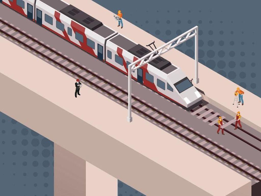 LRT Kelapa Gading-Velodrome Dipastikan Selesai Sesuai Target