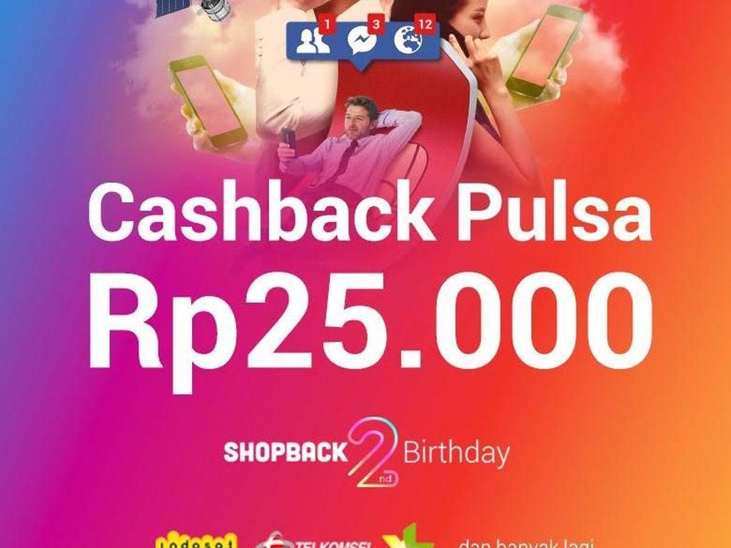 Cashback Rp 25.000 untuk Beli Pulsa dan Pesan Transportasi Online