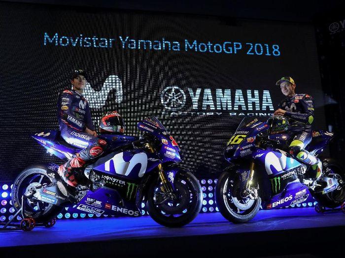 Valentino Rossi dan Maverick Vinales. (Foto: Susana Vera/Reuters)