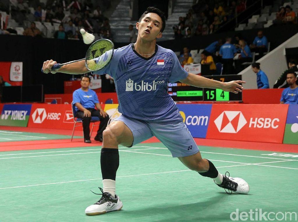 Jonatan Christie Tumbang di Babak Pertama Indonesia Masters