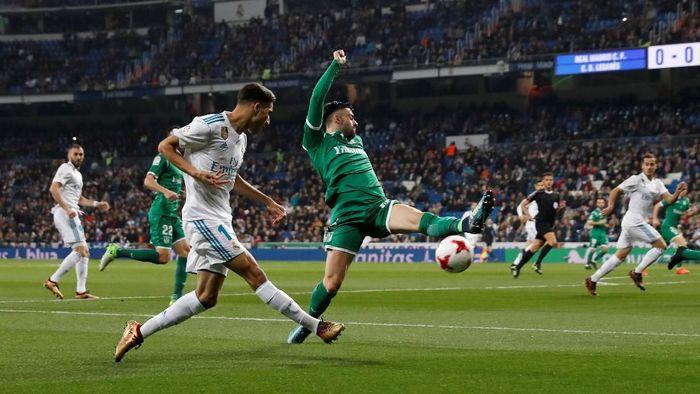 Menjamu Leganes di leg kedua perempatfinal di Santiago Bernabeu, Kamis (25/1/2018) dini hari WIB, Madrid sebenarnya berbekal hasil positif usai menang 1-0 di leg pertama pekan lalu. Foto: Juan Medina/Reuters
