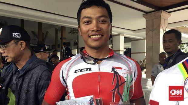 Pebalap Indonesia Projo Waseso menempati peringkat kedua di etape I Tour de Indonesia 2018.