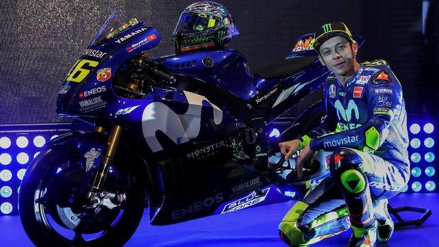 Desain teranyar motor Valentino Rossi untuk berlaga di MotoGP 2018. (