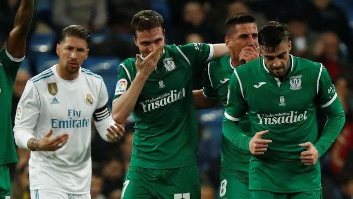 Real Madrid saat kalah dari Leganes di ajang Copa del Rey (Foto: Juan Medina/Reuters)