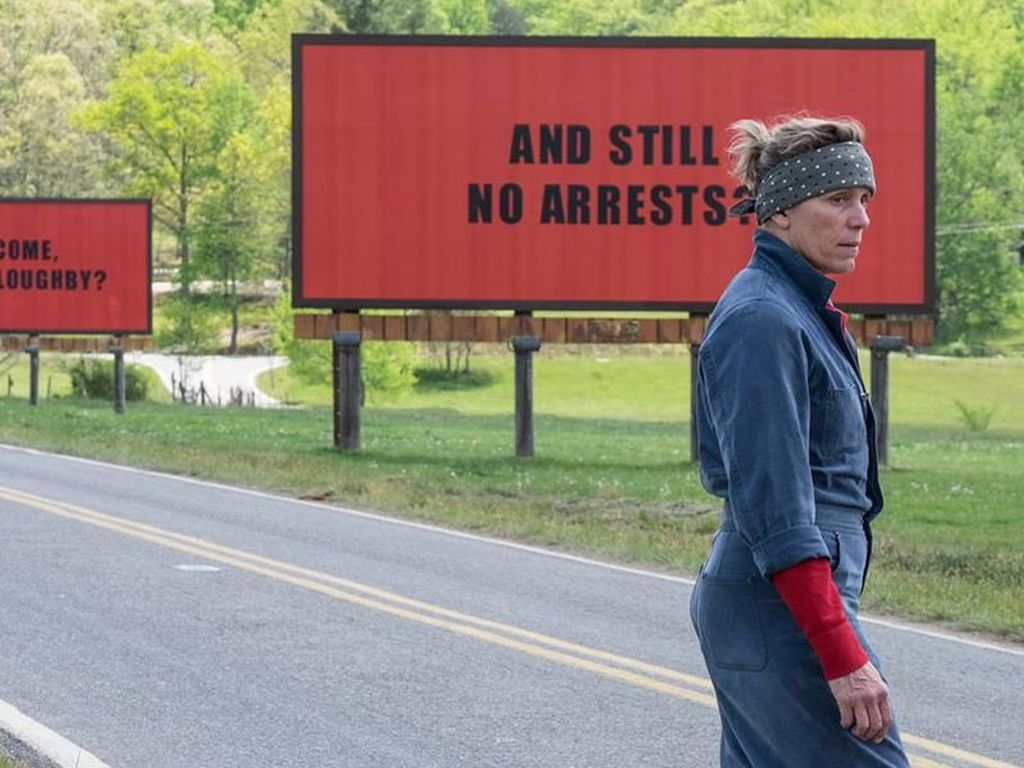 Kesempatan Three Billboards Outside Ebbing, Missouri Bersinar di Oscar