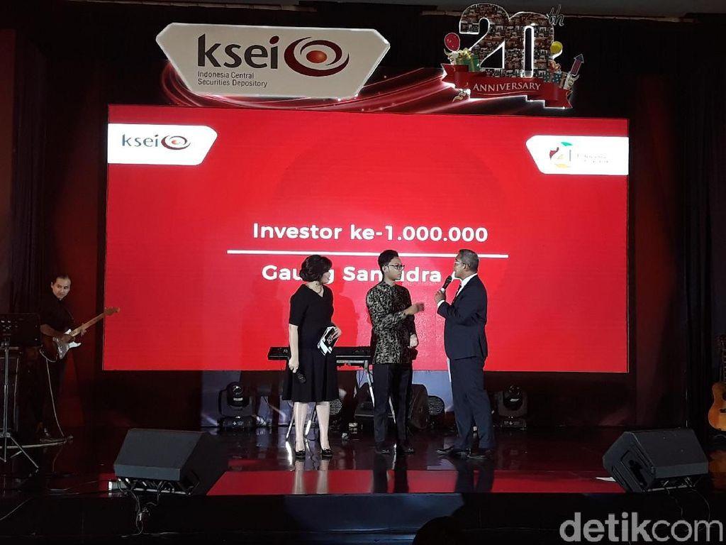 HUT ke-20, KSEI Beri Penghargaan Kepada Investor ke-1 Juta