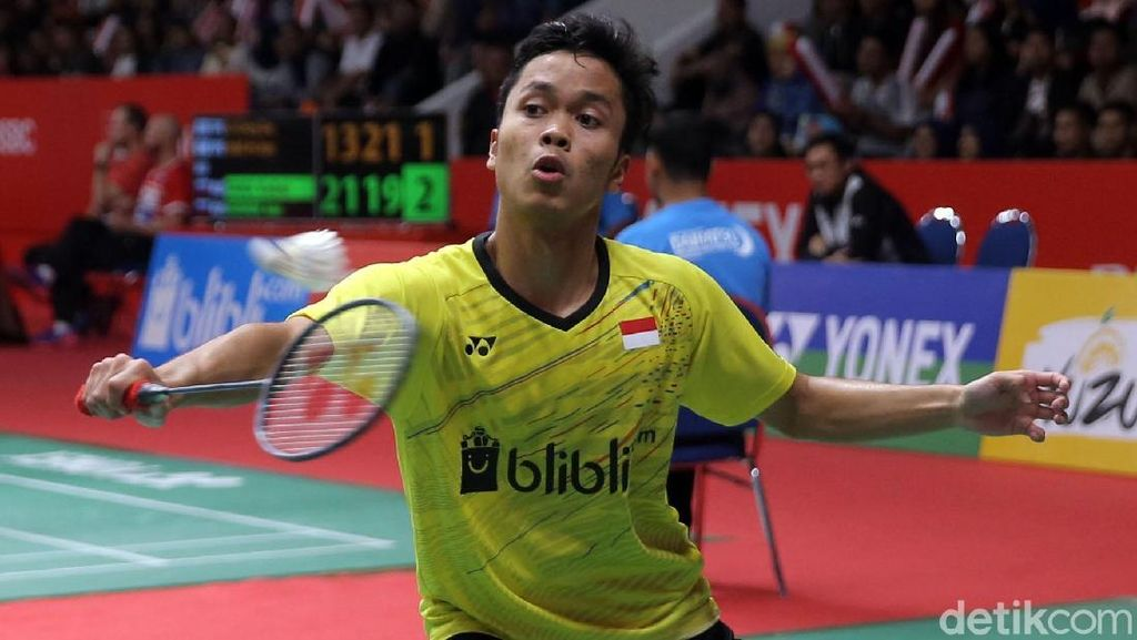 Anthony Ginting Tantang Chen Long di Perempatfinal Indonesia Masters