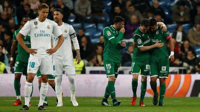 Leganes menyingkirkan Real Madrid dari Copa del Rey (Juan Medina/Reuters)