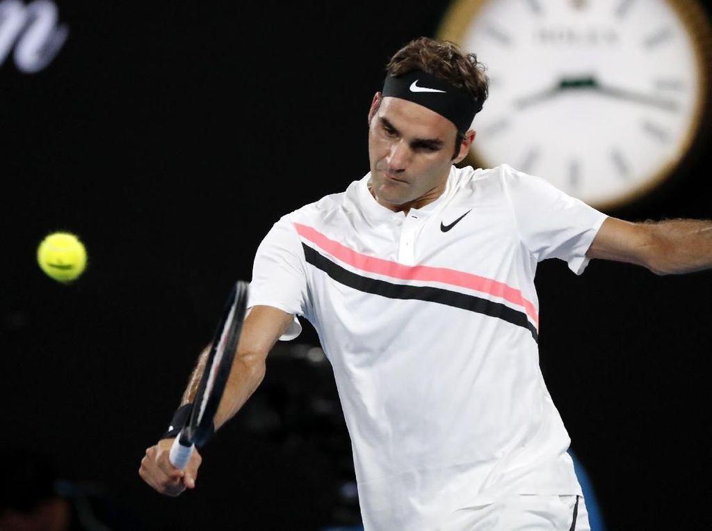 Federer ke Final Setelah Lawannya Mundur di Set Kedua
