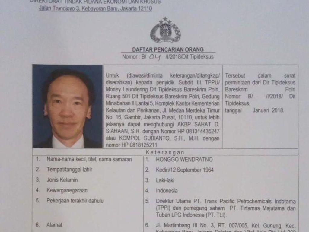 Polisi Surati Negara-negara yang Diduga Lokasi Pelarian Honggo