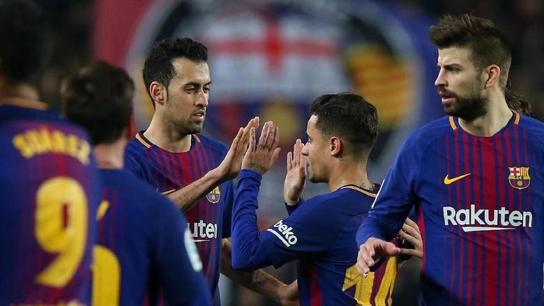 Barca ke Semifinal, Busquets Sindir Perayaan Berlebihan Espanyol di Leg Pertama