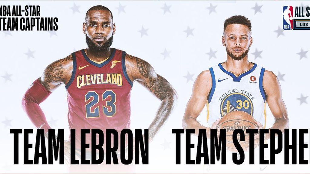 Ini Skuat Pilihan LeBron dan Curry di NBA All-Star 2018, Siapa Lebih Kuat?