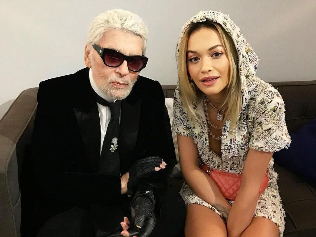Karl Lagerfeld Tampil Beda dengan Berjenggot, Netizen Nyinyir