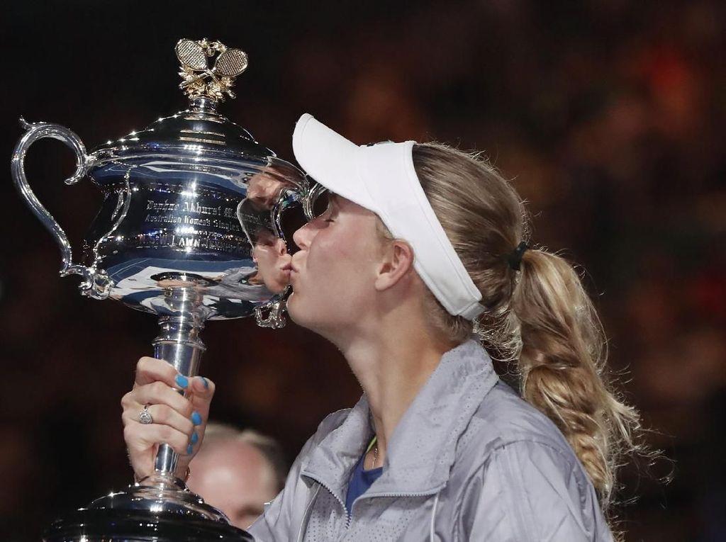 Akhirnya, Wozniacki!