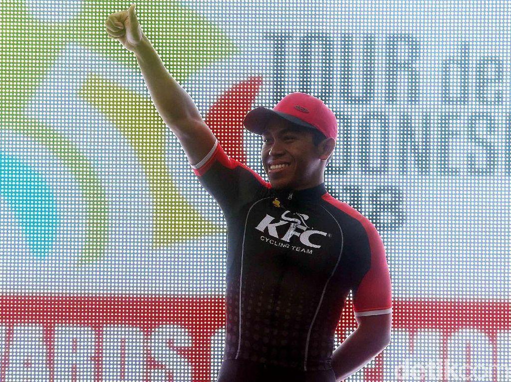 Abdul Gani Tercepat di Etape Kedua Tour de Indonesia 2018