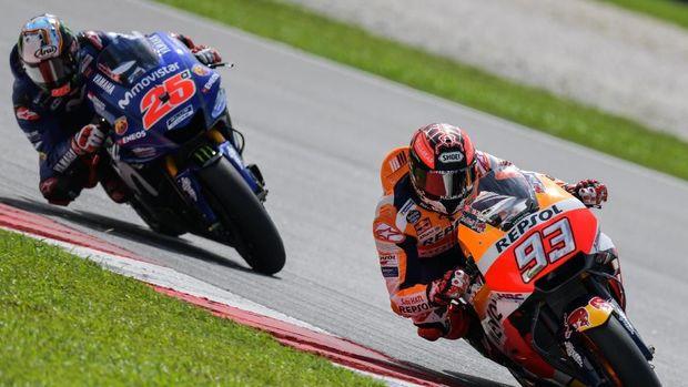 Maverick Vinales gagal memberi tekanan kepada Marc Marquez di MotoGP Amerika Serikat.