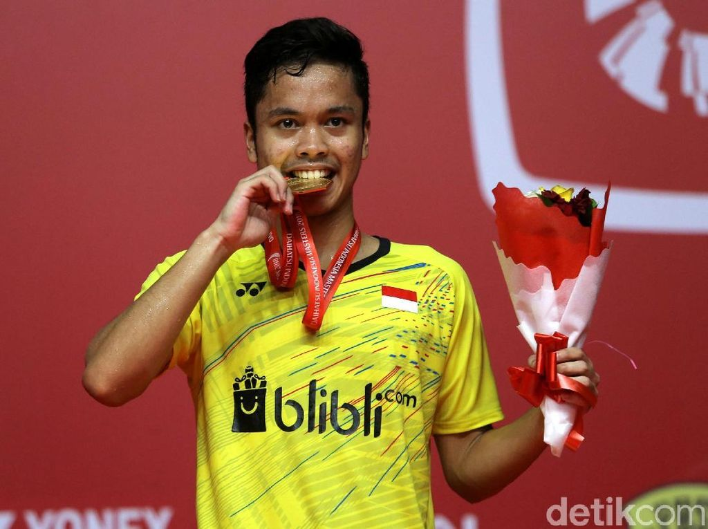 Foto: Anthony Ginting Juara Indonesia Masters 2018