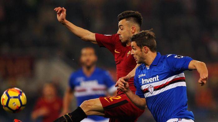 AS Roma dikalahkan Sampdoria 0-1 di Stadion Olimpico dalam lanjutan Liga Italia (Foto: Paolo Bruno/Getty Images)