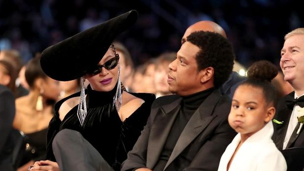 Jay Z, Beyonce, dan anaknya di Grammy Awards 2018.