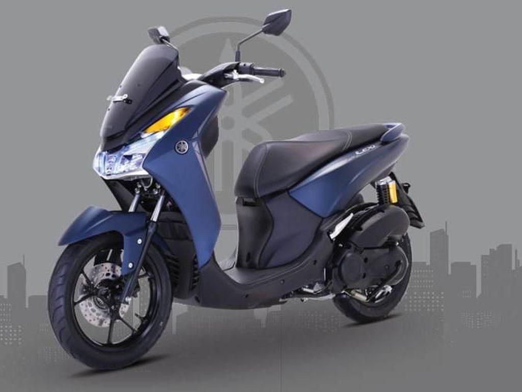 Desain Yamaha Lexi Cocok Buat Bawa Galon dan Belanjaan Emak-emak