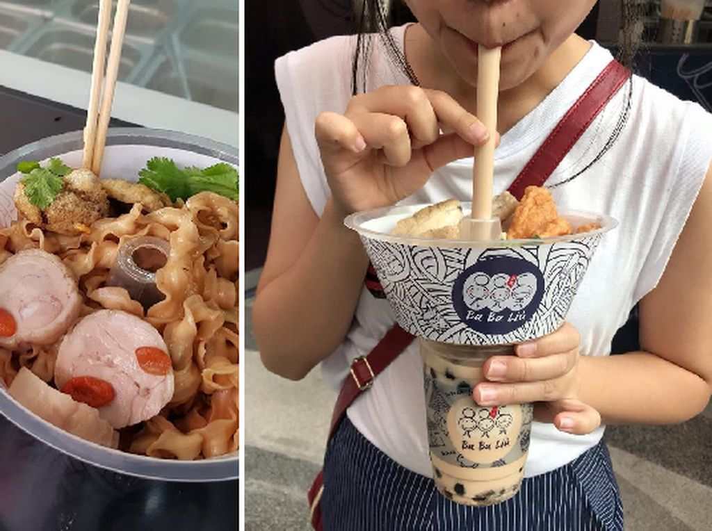 Yang Lagi Tren di Bangkok, Melahap Mie dan Bubble Tea dalam Cup Praktis