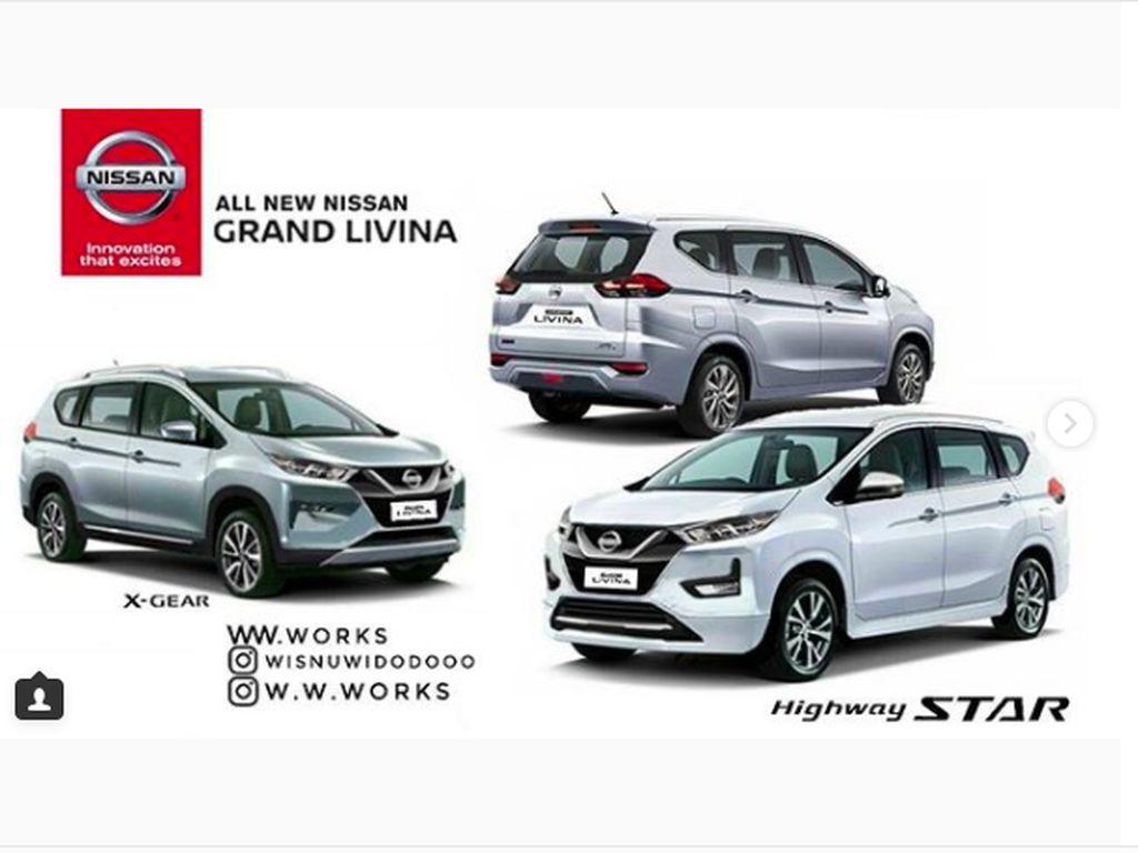 Heboh, Begini Nissan Grand Livina Jika Berbaju Mitsubishi Xpander