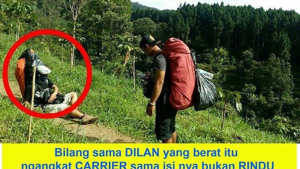 Meme-meme Kocak Dilan Soal Traveling