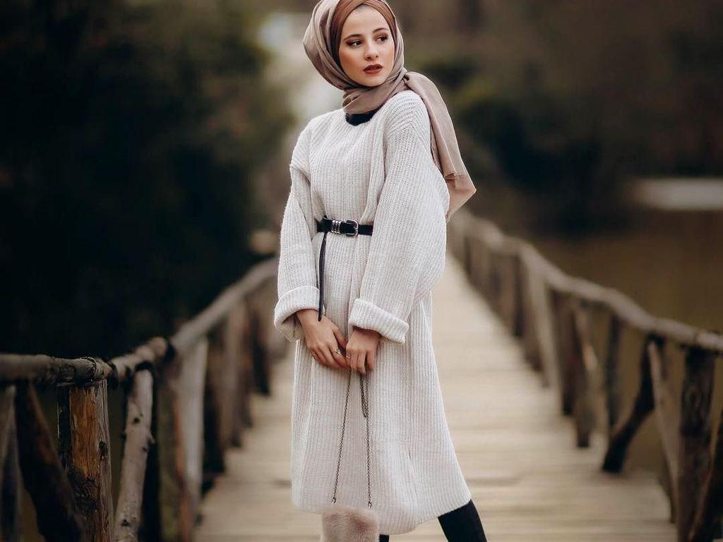 Gaya Hijab Untuk Tubuh Mungil ala Hijabers Turki Senasura