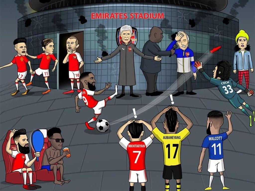 Arsenal Dihajar Meme-meme Lucu Usai Ditekuk Swansea