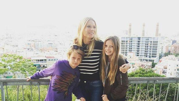 Gwyneth Paltrow dan kedua anaknya