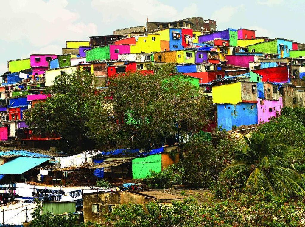 Dulunya Kumuh, Desa di Mumbai Ini Jadi Warna-warni