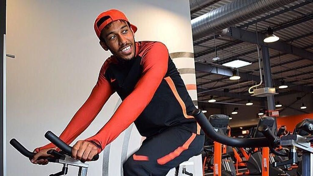 Foto: Olahraganya Striker Baru Arsenal, Pierre-Emerick Aubameyang