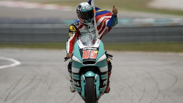 Hafizh Syahrin menganggap kendali motor MotoGP lebih mudah dibandingkan motor Moto2.