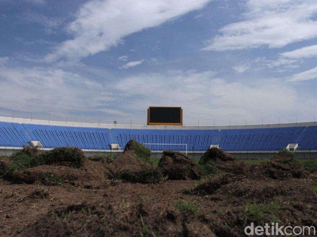 Proses Renovasi Stadion Si Jalak Harupat Berjalan Sesuai Jadwal