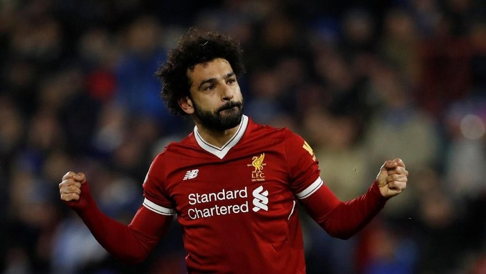 Mohamed Salah salah satu kandidat kapten di Fantasy Premier League Pekan ke-26 (Lee Smith/REUTERS)