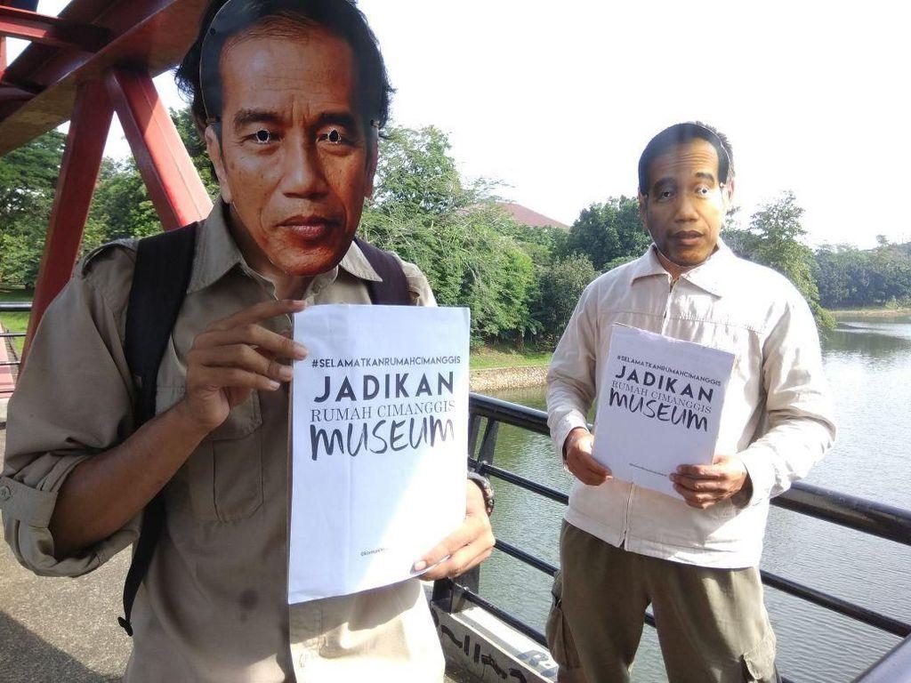 Bertopeng Jokowi, Aktivis Minta Rumah Cimanggis Diselamatkan