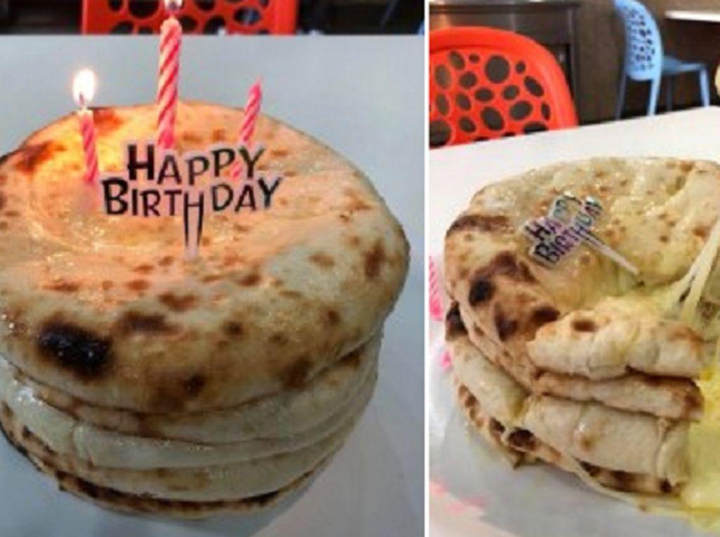 Bikin Ngiler! Tumpukan Cake Roti Naan Ini Berisi Keju Leleh