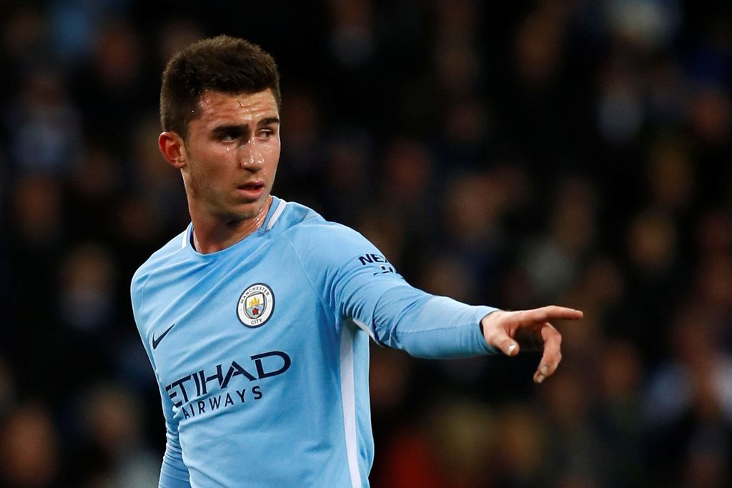 Soccer Football - Premier League - Manchester City vs West Bromwich Albion - Etihad Stadium, Manchester, Britain - January 31, 2018   Manchester City's Aymeric Laporte gestures   Action Images via Reuters/Jason Cairnduff    EDITORIAL USE ONLY. No use with unauthorized audio, video, data, fixture lists, club/league logos or