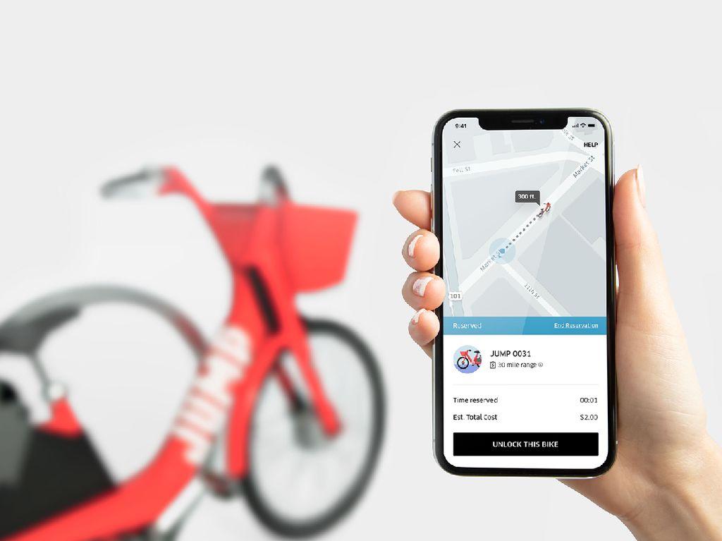 Uber Merambah Bisnis Penyewaan Sepeda