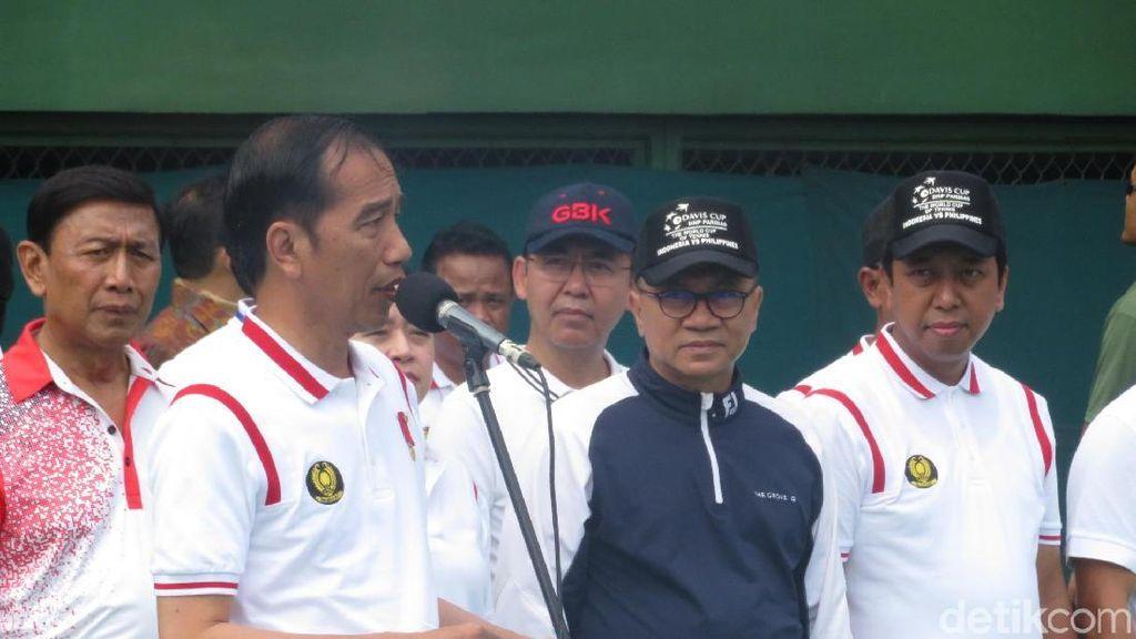 Presiden Jokowi Resmikan Lapangan Tenis di GBK