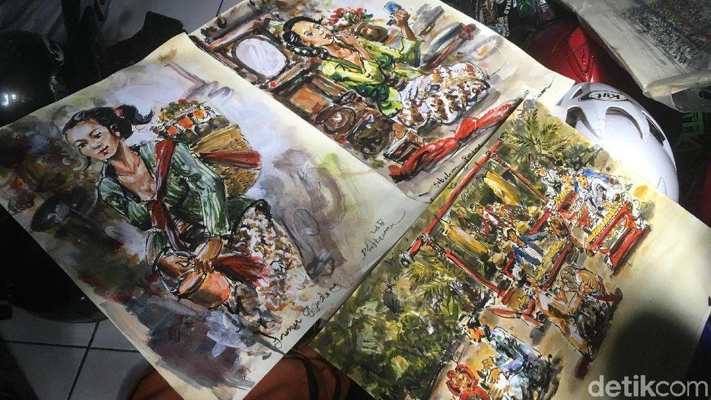 Ini 3 Lukisan Terakhir Dwi Sebelum Tewas Dililit Ular di Menteng