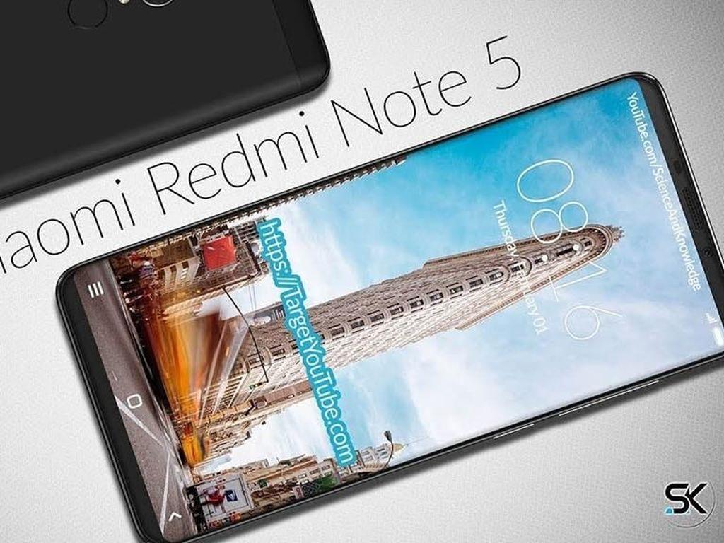 Penampakan Redmi Note 5 Usung Dua Kamera