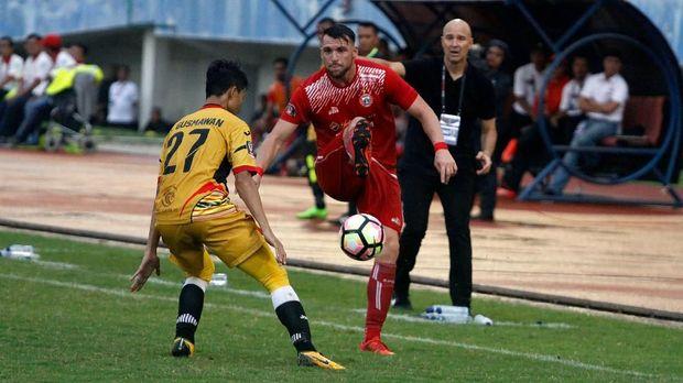 Persija mengalahkan Mitra Kukar 2-0 pada pertemuan pertama Liga 1 2018. (