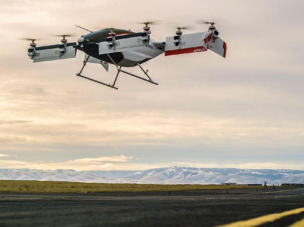 Foto: Mobil Terbang Airbus Sukses Terbang Perdana