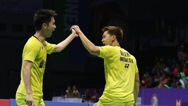 Marcus/Kevin Menang, Indonesia vs China Imbang