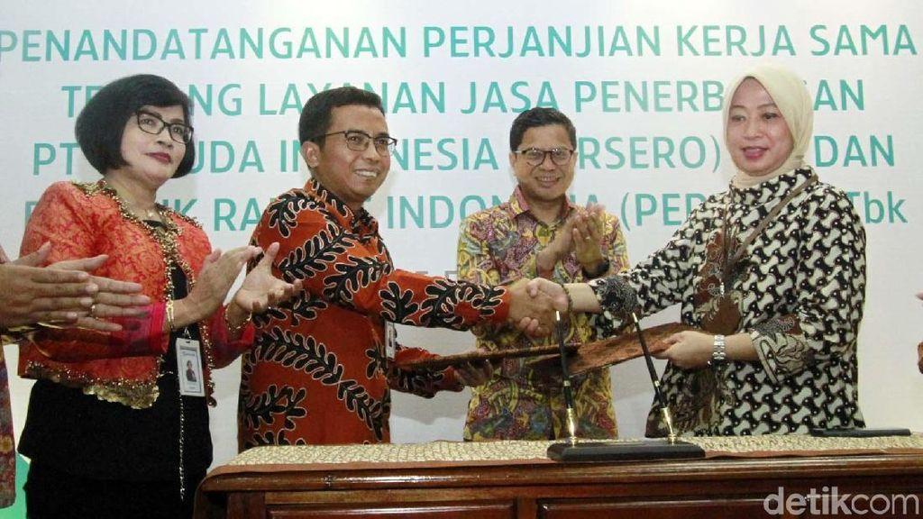 Sinergi BUMN, BRI Gandeng Garuda Indonesia
